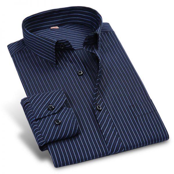 Striped Men Dress Shirts Men Casual Shirt