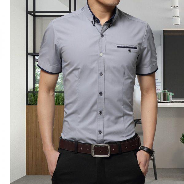 Summer Business Shirt Short Sleeves Shirts