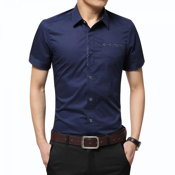 Summer Men's Shirt Collar Cardigan Shirt