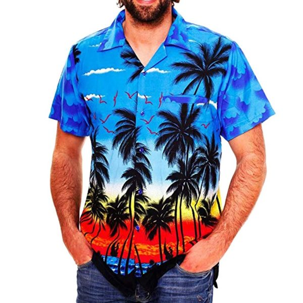 Casual Hawaii Print Beach Shirt