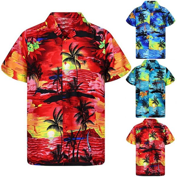 Casual Hawaii Print Beach Shirts