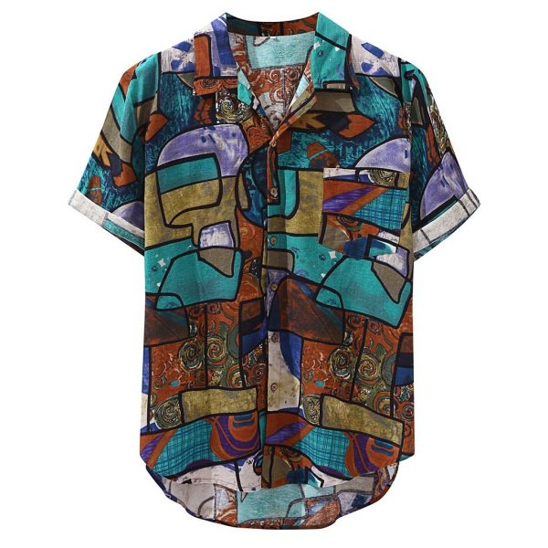 Casual Print Beach Hawaiian Shirt