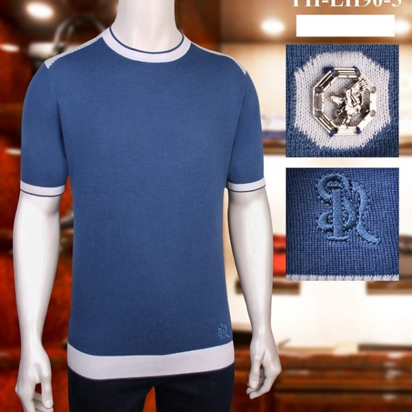 Casual Thin Elastic Embroidery T-Shirt