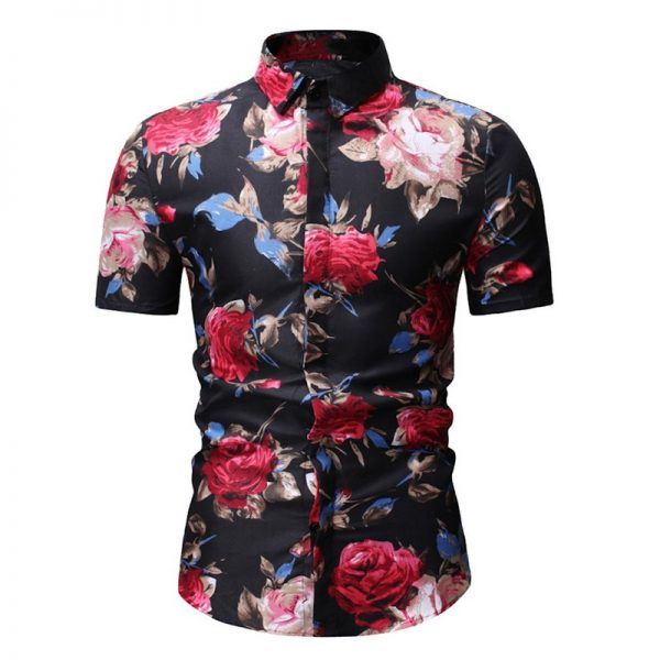 Slim Fit Flower Printed Shirts