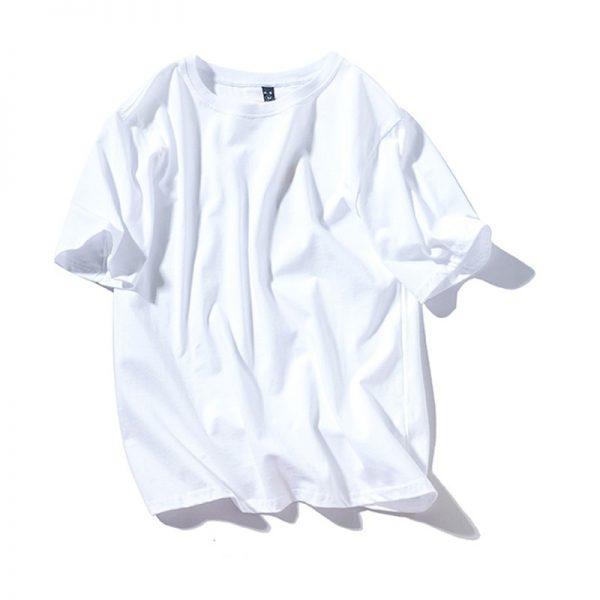 Solid Color T Shirt Men Cotton T-shirts