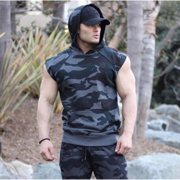 Fitness Sleeveless Hooded Vest