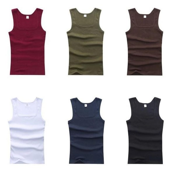 Men Plain Tank Tops Muscle Tees Sleeveless Vest