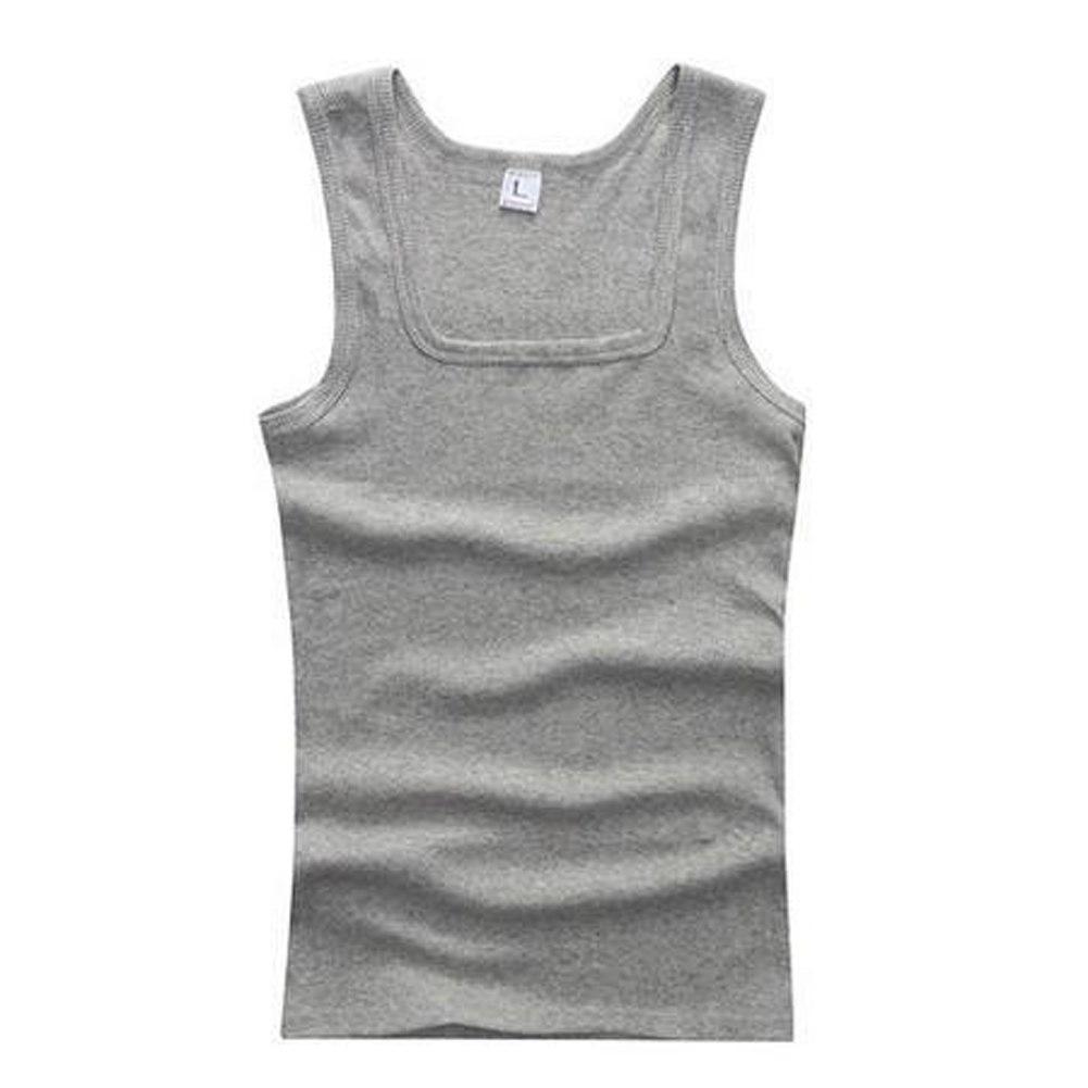 Men Plain Tank Tops Muscle Tees Sleeveless Vest
