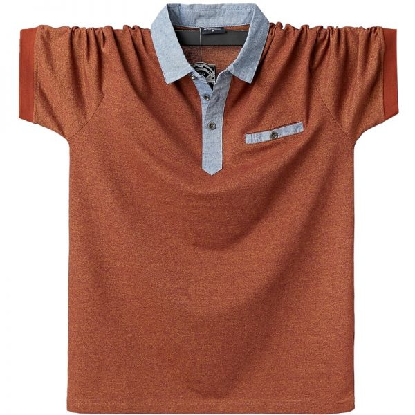 Men Polo Shirt Contrast Polo Shirts