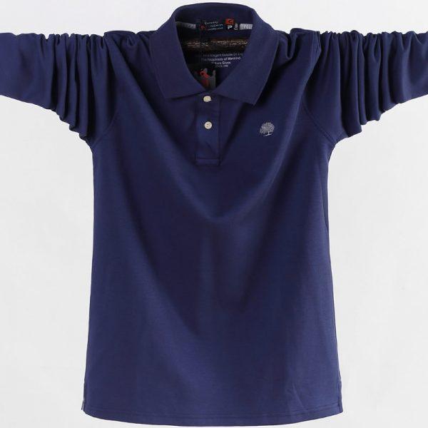 Men Polo Shirt Fashion Business Casual Shirt