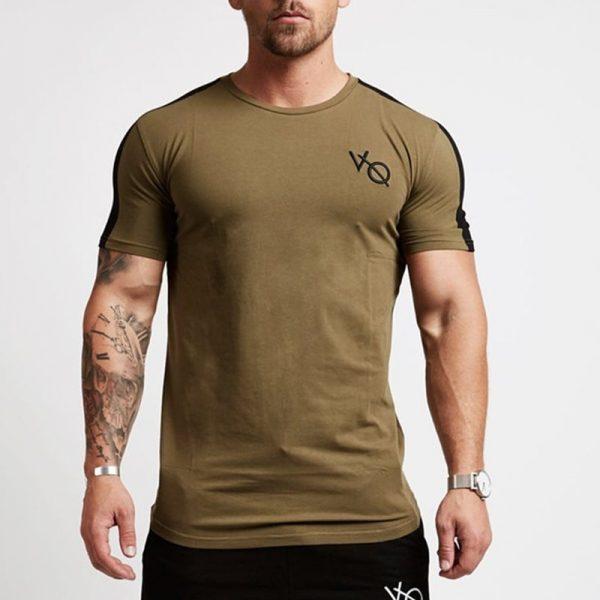 Short Sleeve Cotton T shirt Fitness Slim T-shirts