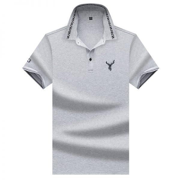 Solid Polo Shirts Men Shirt
