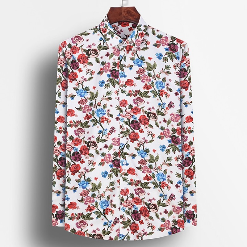 Mens Floral Dress Shirts - Adds A Touch Of Color To Your Look