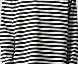Black and White Striped Shirt With a Belt - A New Fashion Trend