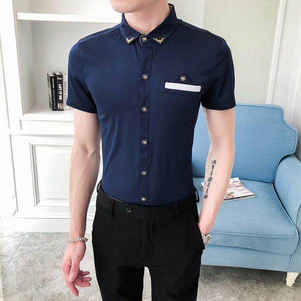 Korean Summer Business Dress Shirts