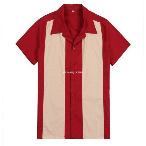 Vertical Striped Shirt Men Dress