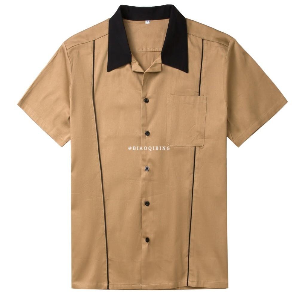 Vintage Work Shirts Men Blouse