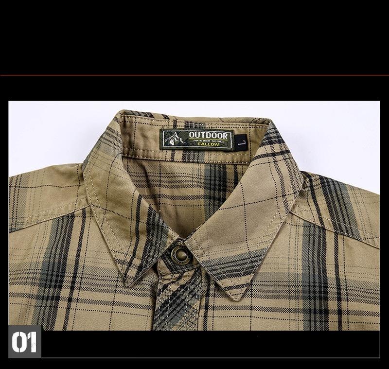 Classic Plaid Casual Cotton Shirts