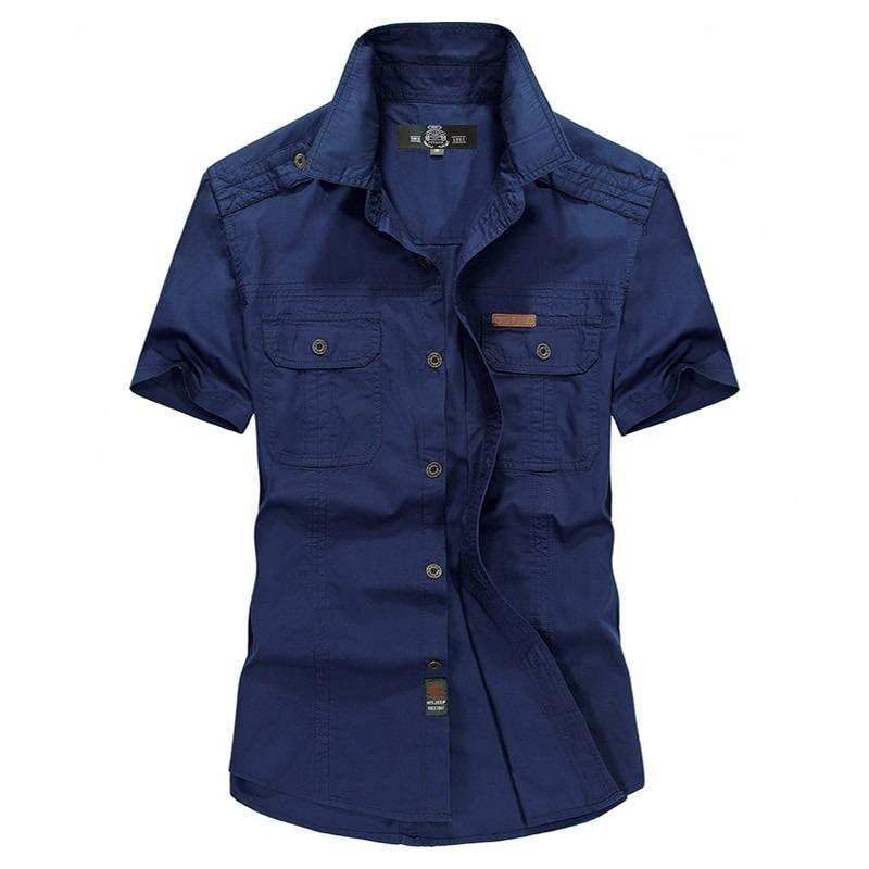Summer Army Short Sleeve Shirt